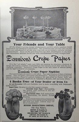 1906 Ad(G10)~Dennison Mfg. Co. Boston. Crepe Paper Napkins For Your Table