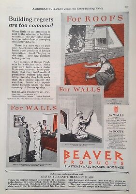 1926 Ad(G9)~The Beaver Products Co. Buffalo, Ny. Wall Boards And Roofing