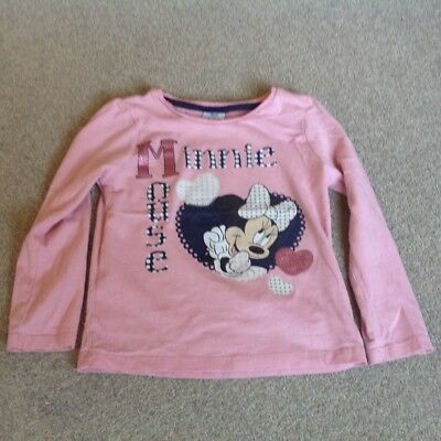 disney girls minnie mouse pink top - age 2-3 years