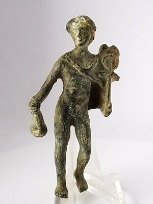 8. Bronze Roman Figurine, Hermes - H=77mm