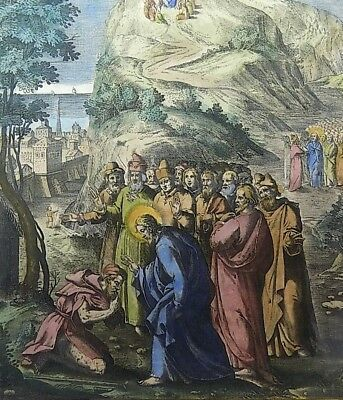 1593 NATAL Wierix Collaert Vos Galle PASSION TABLEAU Healing of the Lepers