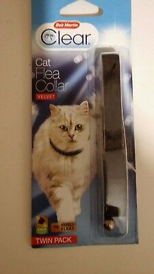 Bob Martin Clear Cat Flea Collar Velvet Twin Pack Expiry End Date 06/2018