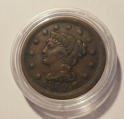 1852 Braided Hair Large Cent VF
