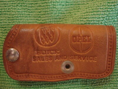 1960's-70's Buick & Opel Logos Leather Snap Key Case/Hamilton Auto Sales