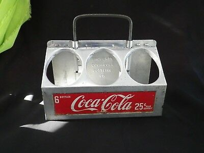 "1950s Vintage ~ "" Coca Cola"" ~ Aluminum 6 Pack Bottle Carrier Caddie Holder"