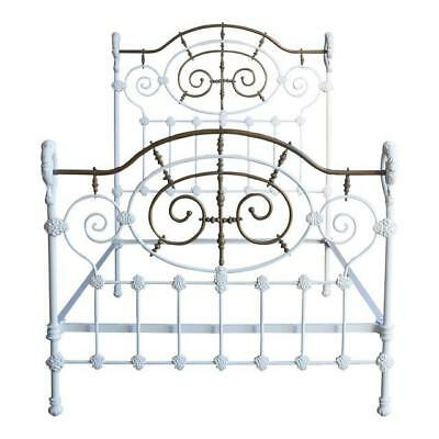 ANTIQUE IRON BED / Full Bed / Double Bed Frame / Vintage Full Iron ...