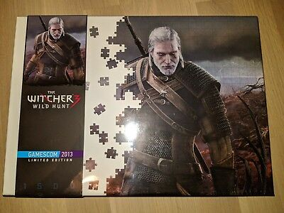 The Witcher 3 Wild Hunt Puzzle: Gamescom 2013 Limited Edition - Neu / New