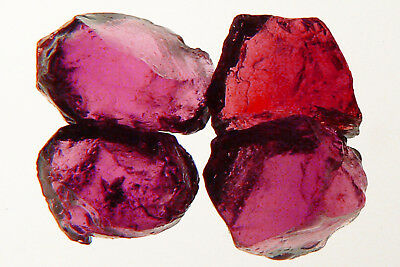 "12.7 cts FLAWLESS ""RASPBERRY"" RHODOLITE GARNET FACET ROUGH, 4 pcs"