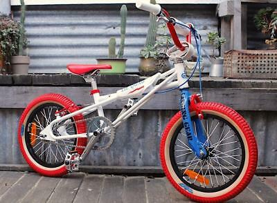 Se Bikes Lil Quad 16 Inch - Retro Bmx Bike - Classic Look  - Red Tyres