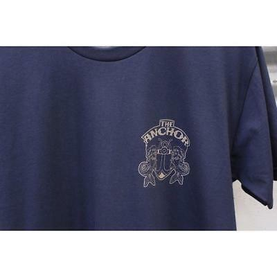 ANCHOR DOS SHIELD TEE in BLK, BROWN, GREEN, NAVY, OLIVE, WHITE