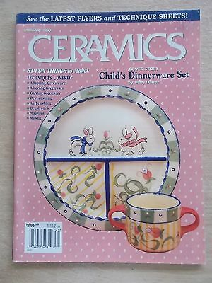Ceramics~USA~Jan 1999~Projects~Majolica~Mosaic~Brushwork~Carving~Airbrushing...