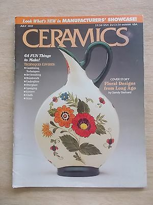 Ceramics~USA~July 1997~Projects~Sponging~Stain~Chalk~Overglaze~Drybrushing...