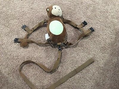 Carter Monkey Baby Harness Safety Leash Child of Mine Plush Backpack Brown Green