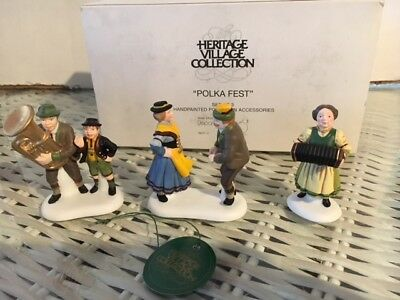Dept 56 Alpine Village POLKA FEST  New in Box Retired 5607-3