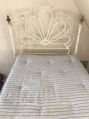 Victorian Iron And Brass single Bed Frame with sprung base. Mattress optional.
