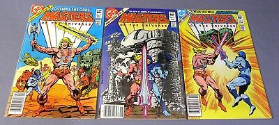 MASTERS OF THE UNIVERSE #1 2 3 (Complete Mini-Series) DC Comics 1982 He-Man