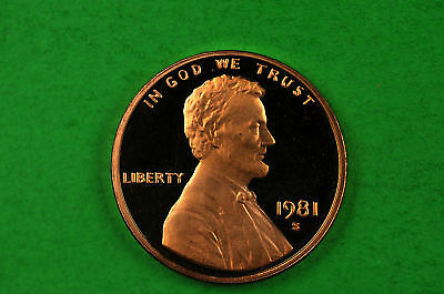 1981-S   Cameo Lincoln Penny US GEM Proof Coin