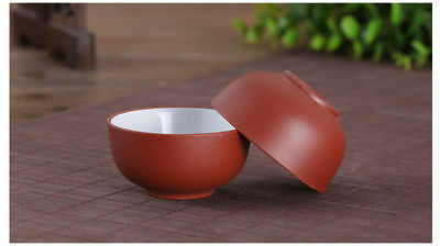 2 Pcs Chinese Hand Crafted Yixing Zisha Gongfu Tea cups Red Color