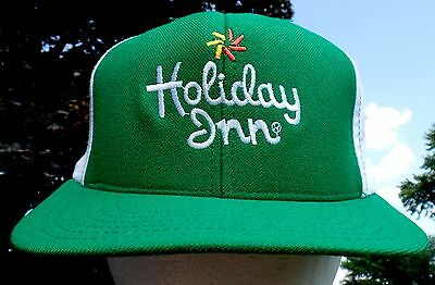 Vtg HOLIDAY INN Snap-back Ball Hat Hotel Promo Adjustable Cap