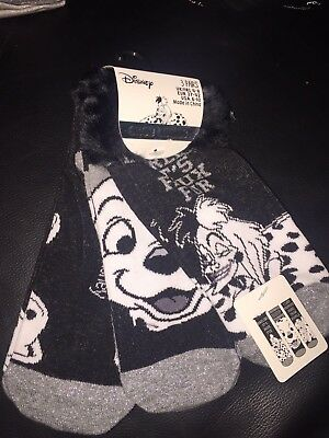 Womens Disney 101 Dalmation Shoe Liners Socks Pack Of 3... Size: 4-8 £3.99