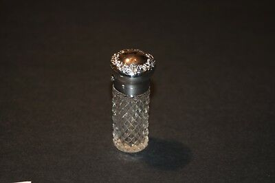 Sterling Silver & Cut Crystal Glass Perfume Bottle - #5