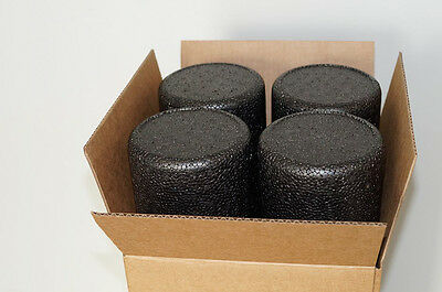 """6"""" x 24"""" BLACK MOLDED FOAM ROLLERS 4 PACK FOR PHYSICAL THERAPY & CHIROPRACTIC"""