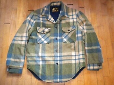 Vintage 1960's Sears Oakbrook Sportswear Plaid Flannel Jacket - Lined - Nice!