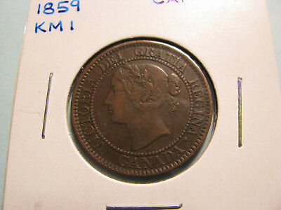 Canada 1859 Large Cent.  KM#1  (Item 0190)