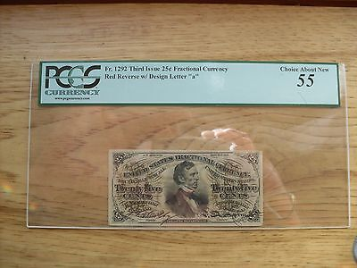 Fractional Currency Fr 1292 PCGS 55
