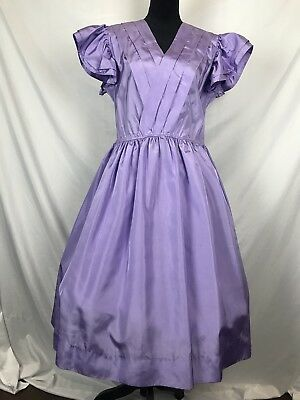 Vtg 80s Party Prom Bridesmaid Dress Purple Plus Size XXL XXXL