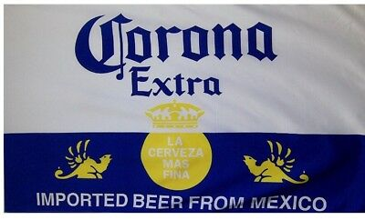Corona Extra Beer Banner Flag 3' X 5'  Indoor Outdoor Bar Decor Man Cave Mexico