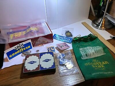 Goodyear BF Goodrich Advertising stickers cards Bank bag Wingfoot Akron Ohio
