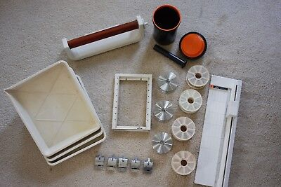 Huge lot of photography darkroom supplies - rollers, clips, tanks, reels, trays