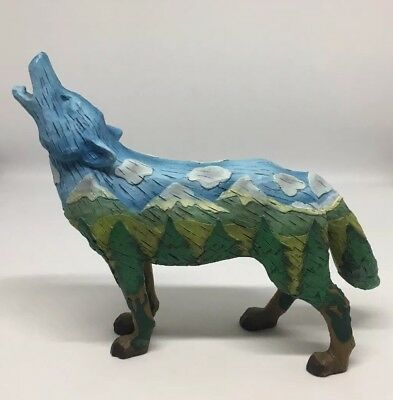 Rare Htf Call Of The Wolf Highland Wolf Resin Figurine #14121 Westland Giftware