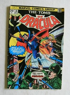 Tomb of Dracula #36 (Sep 1975, Marvel) Lord of the undead invades America
