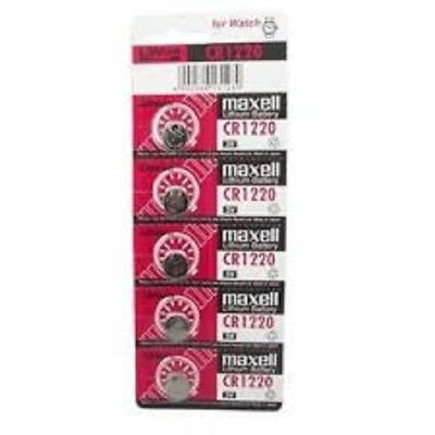 Maxell CR1220 3V Lithium Coin Cell Watch Batteries