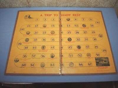 Rare Vintage 1920's Game Board Trip To Shady Rest Resort Emma Anderson WI or MN?