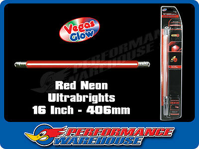 Vegas Glow Ultrabrights 16 Inch Neon Red Pulses To Music Car Ute Boat