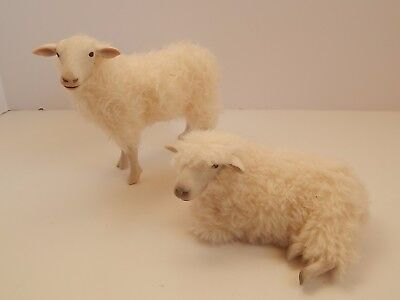 2 Colin's Creatures Sheep Lamp FIgurines Artist SIgned #3