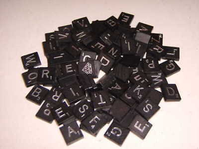 Genuine Scrabble Diamond 60Th Anniversary Black/silver Letters~U Pick~ Free Ship