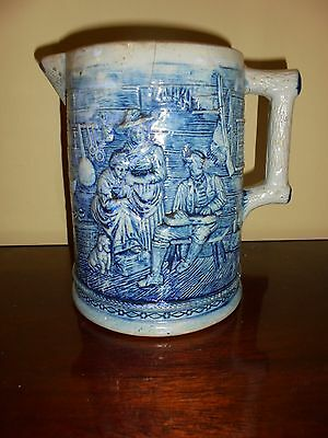 19th C Large White's of Utica Pitcher - The Olde Homestead  - 7 3/4""