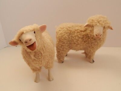 2 Colin's Creatures Sheep Figurines Artist Signed
