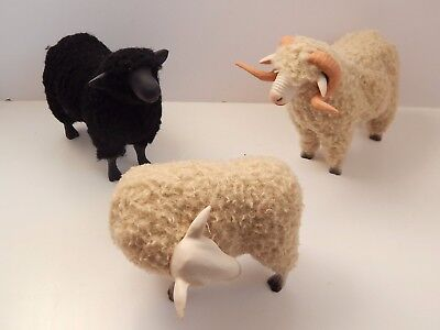 3 Colin's Creatures Sheep Figurines Artist Signed