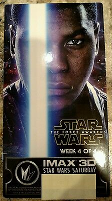 Star Wars IMAX collectible ticket Regal Finn 4 movie Force Awakens