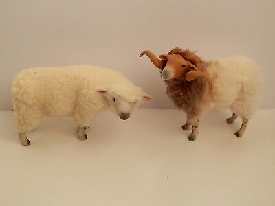 2 Colin's Creatures Sheep Figurines Artist Signed #2