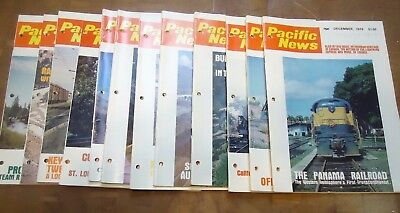 12 issues 1978 pacific news railroad magazines. Year complete. good condition.