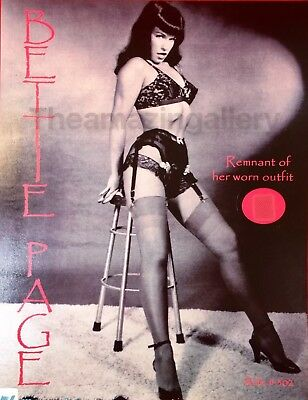 Bettie Page Heels & Nylons Pinup By Bunny Yeager With Remnant Of Her Worn Outfit