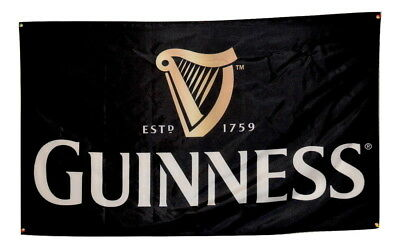 Guiness Flag Beer 3x5 Banner Ireland Draught Stout Man Cave Poster NEW