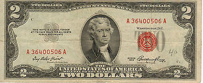 1953 $2 US Note, Red Seal, High Grade Note (R-181)