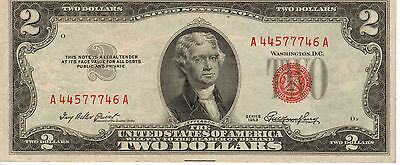 1953 $2 US Note, Red Seal, High Grade Note (R-173)